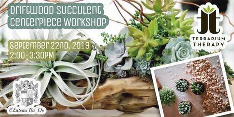 Succulent Driftwood Planter at Chateau Bu De Winery tickets