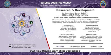 DLA Research and Development Industry Day 2019 tickets