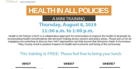 Health in All Policies Mini Training tickets