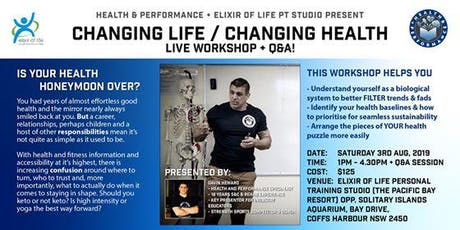 Changing Life. Changing Health. tickets