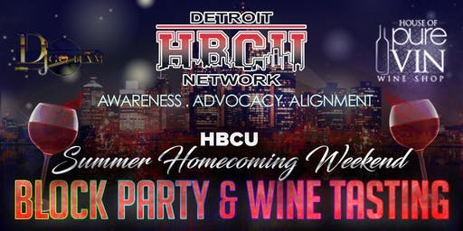 """""""Summer Homecoming"""" Block Party & Wine Tasting! (General Admission)"""