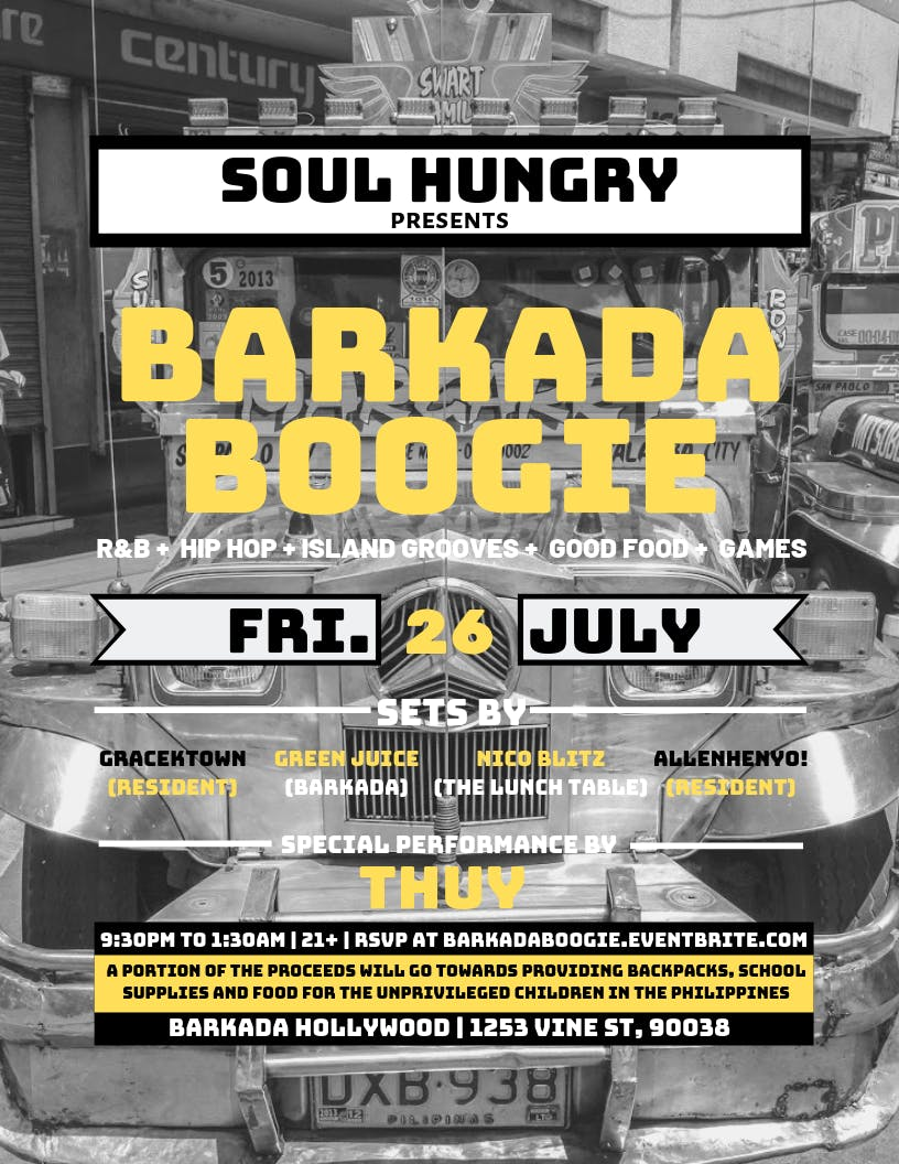 SOUL HUNGRY PRESENTS - BARKADA BOOGIE