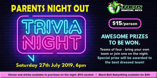 Parents Night Out - Trivia Night