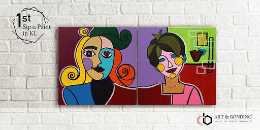 Sunday Sip & Paint : Jigsaw Puzzle Painting - Family Pablo Picasso's Style
