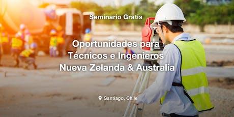 Oportunidades para Técnicos e Ingenieros en Nueva Zelanda & Australia entradas