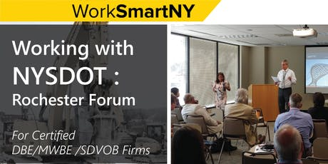 Working with NYSDOT: Rochester Forum tickets