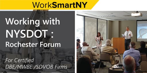 Working with NYSDOT: Rochester Forum