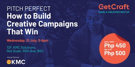 Pitch Perfect: How to Build Creative Campaigns That Win tickets