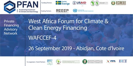 PFAN West Africa Forum for Climate & Clean Energy Financing (WAFCCEF4) billets