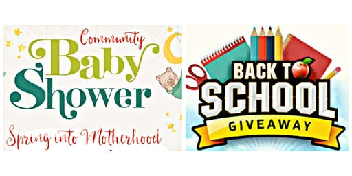 Community Baby Shower/Back-to-school giveaway
