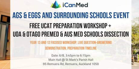 Free UCAT & Med Pathways Workshop for EGGS, AGS & Surrounding Schools (6/8) tickets