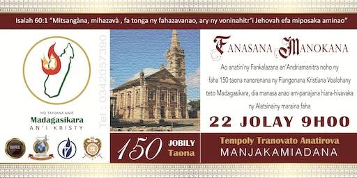 Jobily faha 150 Taona Tempoly Tranovato Anatirova