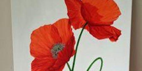 Painting poppies Royal British Legion Forfar tickets