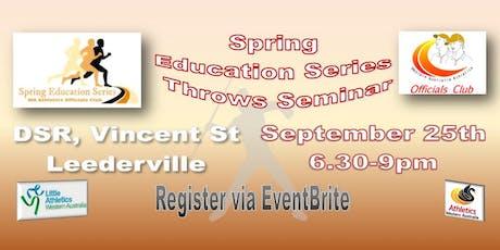 Throws Seminar - Spring Education Series tickets