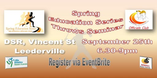 Throws Seminar - Spring Education Series