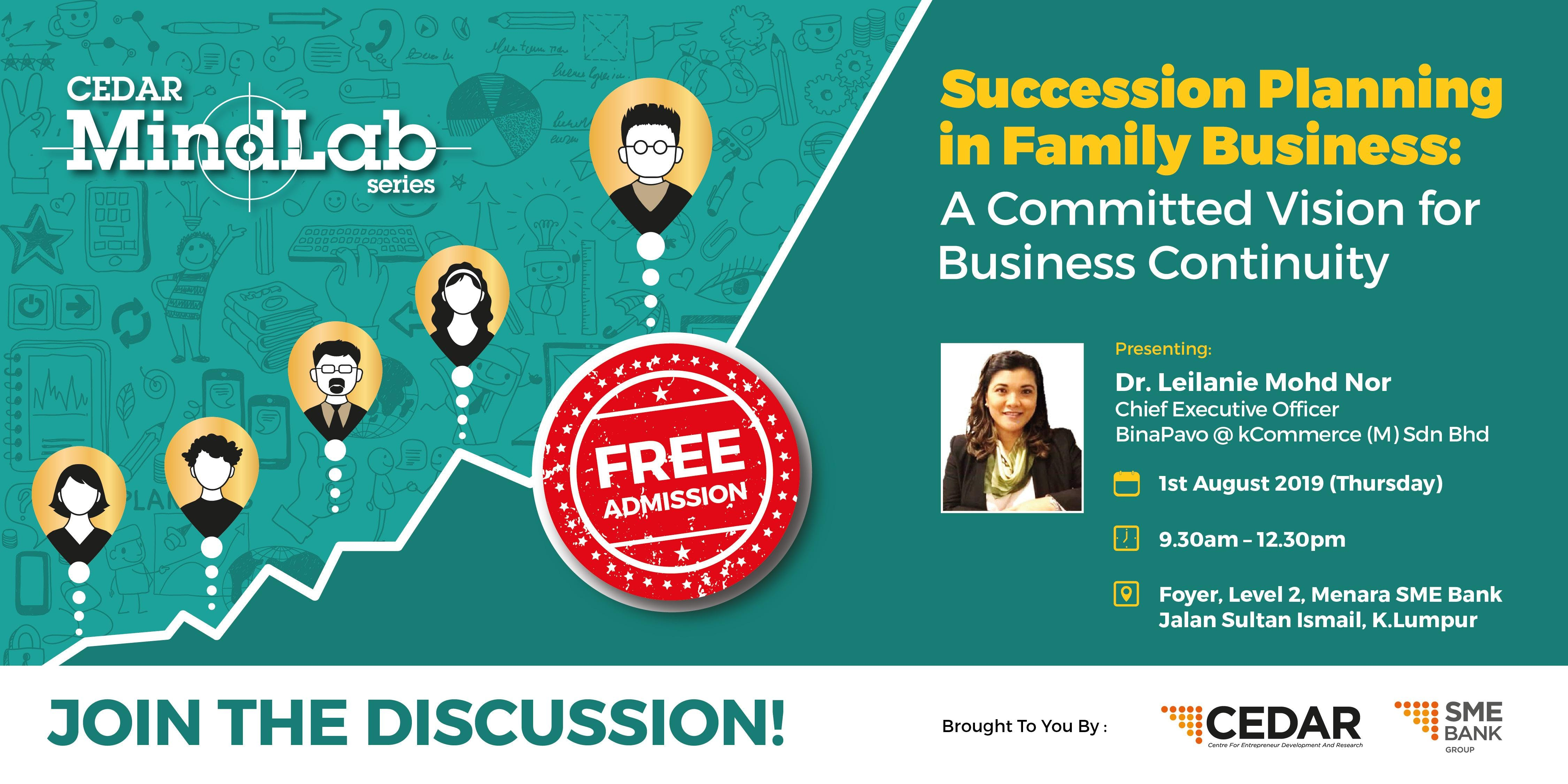 CEDAR MindLab Series: Succession Planning in Family Business: A Committed Vision for Business Continuity
