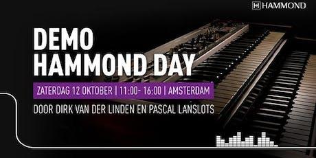 Hammond Day  op zaterdag 12 oktober bij Bax Music in Amsterdam tickets