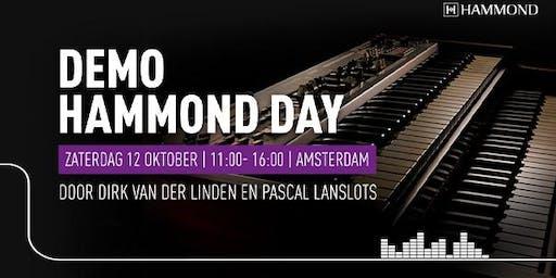 Hammond Day  op zaterdag 12 oktober bij Bax Music in Amsterdam