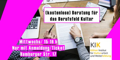 Karriereberatung Kulturwirtschaft Tickets