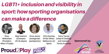 LGBTI+ Visibility in Sport: Panel Discussion for Wear It Purple Day tickets
