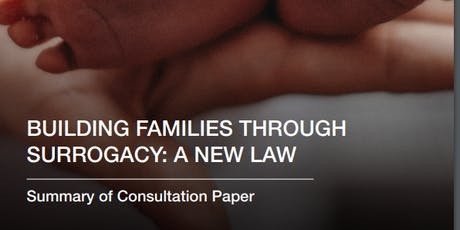 """Building families through surrogacy: a new law"" - a consultation event (Cardiff) tickets"