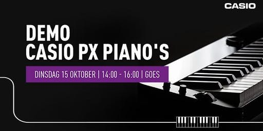 Demo Casio PX Piano's op dinsdag 15 oktober bij Bax Music Goes