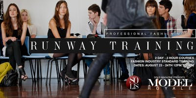 NYFW - PROFESSIONAL FASHION MODEL RUNWAY TRAINING DAY 1