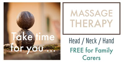 ONGOING DATES: HEAD / NECK / HANDS MASSAGE