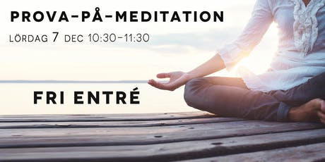 Gratis: Prova-på-meditation tickets