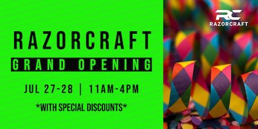 RAZORCRAFT Grand Opening  Sale