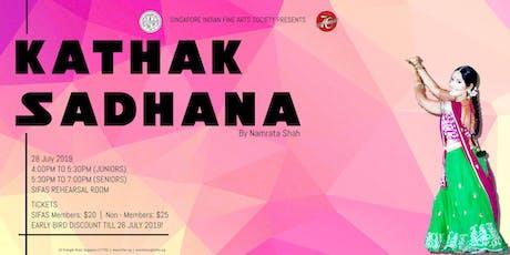 Kathak Sadhana by Namrata Shah! tickets