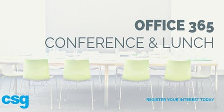 CSG Office 365 Conference/Luncheon tickets