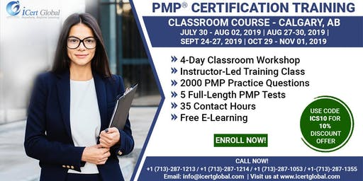 PMP Certification Training Course in Calgary, AB, Canada