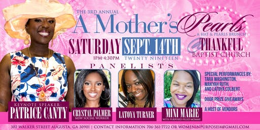 3rd Annual A Mothers Pearls Empowerment  Brunch (a hat and Pearl's event)