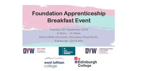 Foundation Apprenticeship Breakfast Event tickets