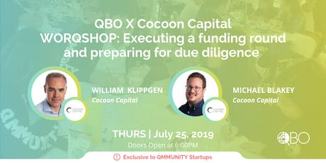 QBO X Cocoon Capital WORQSHOP: Executing a funding round and preparing for due diligence  tickets