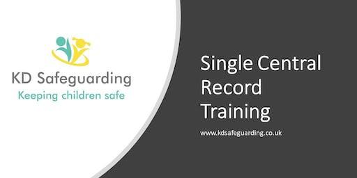 Single Central Record Training - Bury