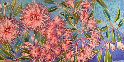 ART & WINE Guided Painting of Wild Australian Natives