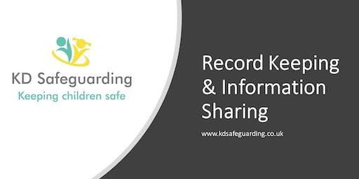 Record Keeping & Information Sharing - BURY