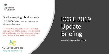 Keeping Children Safe in Education (KCSiE) 2019 Update Briefing - BURY tickets