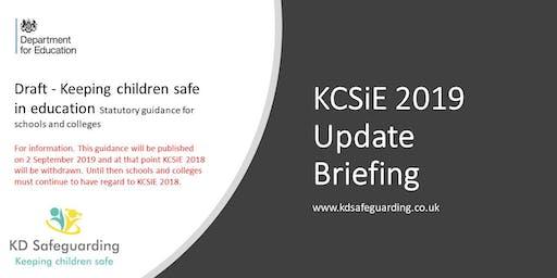 Keeping Children Safe in Education (KCSiE) 2019 Update Briefing - BURY
