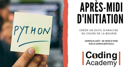 Coding Academy - Atelier d'initiation au Python tickets
