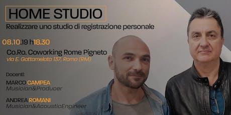 Open Day Home Studio | Realizza il tuo studio di registrazione biglietti