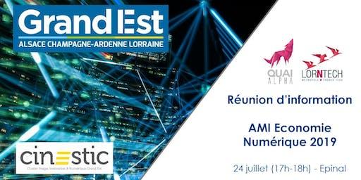 Réunion d'information AMI Economie Numérique 2019 - Epinal