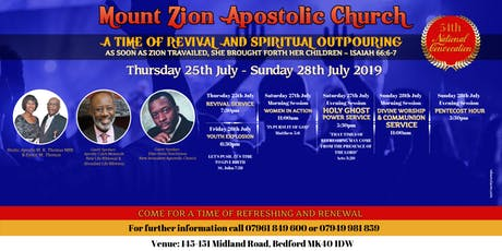 Mount Zion Apostolic Church 54th National Convocation tickets