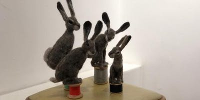 NEEDLE FELTED HARE 6
