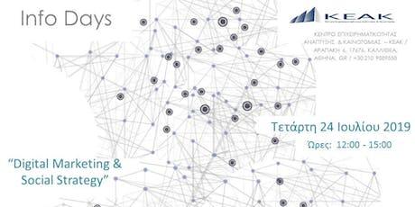 Digital Marketing & Social Strategy  Tickets