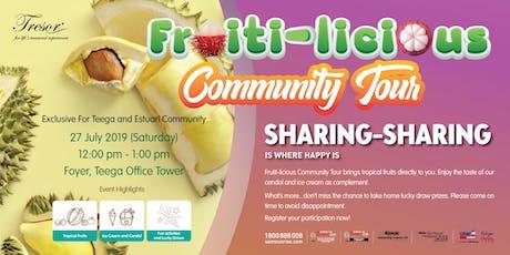 Trésor Fruiti-licious Community Tour (Teega & Estuari) tickets