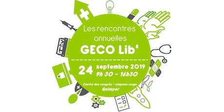 Les rencontres annuelles de GECO Lib' tickets