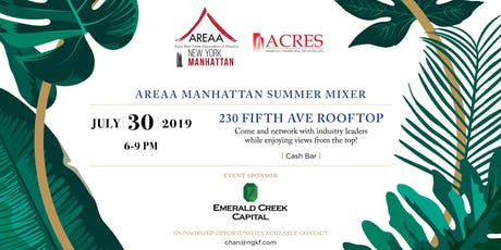 AREAA Manhattan x ACRES Summer Mixer tickets